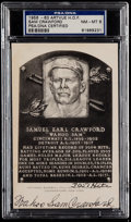 Autographs:Post Cards, 1956-63 Sam Crawford Signed Artvue Hall of Fame Plaque Postcard PSANM-MT 8....