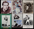 Autographs:Photos, Football Greats Signed Photographs Lot of 8....