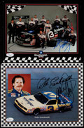 Autographs:Others, Dale Earnhardt Signed Photograph Lot of 2. ...