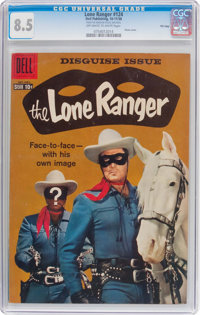 Lone Ranger #124 File Copy (Dell, 1958) CGC VF+ 8.5 Off-white to white pages