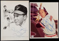 Autographs:Photos, Brooks Robinson Signed Perez-Steele Postcard/Photograph Trio (3)With Unsigned Canseco Book and TV Guide....