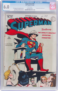 Superman #54 (DC, 1948) CGC FN 6.0 White pages