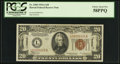 Small Size:World War II Emergency Notes, Fr. 2305 $20 1934A Hawaii Federal Reserve Note. PCGS Choice About New 58PPQ.. ...