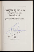 "Autographs:Others, Jimmy and Rosalynn Carter Signed ""Everything to Gain"" Book. ..."