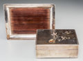 Asian:Japanese, A Japanese Silver and Mixed Metals Box and Stand, Taisho Period,circa 1912-1926. Marks: Three-character mark incised to the...(Total: 2 Items)