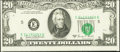 Error Notes:Shifted Third Printing, Misaligned Face and a Shifted Third Printing Fr. 2070-E $20 1969C Federal Reserve Note. Choice About Uncirculated.. ...