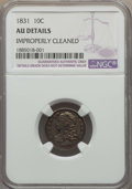 Bust Dimes: , 1831 10C -- Improperly Cleaned -- Details NGC. AU. NGC Census:(6/230). PCGS Population: (32/265). CDN: $360 Whsle. Bid for...