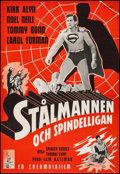 "Movie Posters:Serial, Superman (Columbia, 1950). 1st Release Swedish One Sheet (27.5"" X39.5""). Serial.. ..."