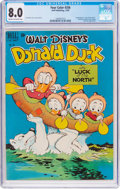 Golden Age (1938-1955):Cartoon Character, Four Color #256 Donald Duck (Dell, 1949) CGC VF 8.0 Cream tooff-white pages....