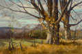 Fine Art - Painting, American, Paul Strisik (American, 1918-1998). Sugar Maples. Oil oncanvas. 16 x 24 inches (40.6 x 61.0 cm). Signed lower right:...
