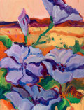 Post-War & Contemporary:Contemporary, Susan Amstater (American, 21st century). Morning Glories inLight. Acrylic on canvas. 12 x 9 inches (30.5 x 22.9 cm). Si...