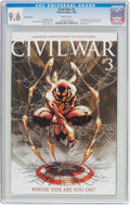 Modern Age (1980-Present):Superhero, Civil War #3 Variant Cover (Marvel, 2006) CGC NM+ 9.6 Whitepages....