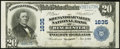 National Bank Notes:Virginia, Winchester, VA - $20 1902 Plain Back Fr. 651 The Shenandoah ValleyNB Ch. # 1635. ...