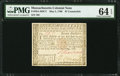 Colonial Notes:Massachusetts, Massachusetts May 5, 1780 $7 Contemporary Counterfeit PMG ChoiceUncirculated 64 EPQ.. ...