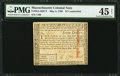 Colonial Notes:Massachusetts, Massachusetts May 5, 1780 $7 Contemporary Counterfeit PMG ChoiceExtremely Fine 45 Net.. ...