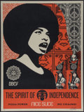 Fine Art - Work on Paper:Print, Shepard Fairey (b. 1970). Spirit of Independence, 2017.Screenprint in colors. 23 x 17 inches (58.4 x 43.2 cm) (image). ...