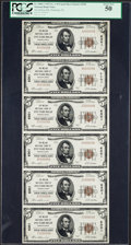 National Bank Notes:Pennsylvania, Pittsburgh, PA - $5 1929 Ty. 1 The Mellon NB Ch. # 6301 UncutSheet. ...