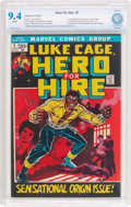 Bronze Age (1970-1979):Superhero, Hero for Hire #1 (Marvel, 1972) CBCS NM 9.4 White pages....