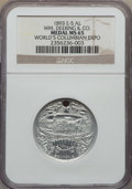 Medals and Tokens, 1893 World Columbian Expo, WM. Deering & Co MS65 NGC. Eglit-5, aluminum, 28mm. ...