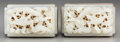 Asian:Chinese, A Pair of Chinese White Jade Plaques with Dragon Motifs Mounted asBelt Buckles, Ming Dynasty (jade). 1-3/4 inches high x 2-...(Total: 2 Items)