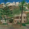 Fine Art - Painting, European:Contemporary   (1950 to present)  , René Genis (French, 1922-2004). La Ville Haute-Almunecar.Oil on canvas. 31-1/2 x 31-1/4 inches (80.0 x 79.4 cm). Signed...