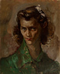 Fine Art - Painting, American, George Chann (American/Chinese, 1913-1995). Untitled (Portraitof a Woman). Oil on canvas. 18 x 14 inches (45.7 x 35.6 c...