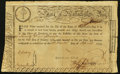 Colonial Notes:Massachusetts, Massachusetts Treasury Certificate 6% Interest Due £25 April 26,1779 Anderson MA-18 Fine.. ...