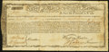 Colonial Notes:Massachusetts, Massachusetts Treasury Certificate £170 January 1, 1780 AndersonMA-22 Fine.. ...