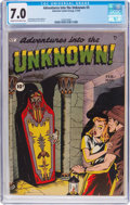 Golden Age (1938-1955):Horror, Adventures Into The Unknown #3 (ACG, 1949) CGC FN/VF 7.0 Cream tooff-white pages....
