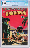 Golden Age (1938-1955):Horror, Adventures Into The Unknown #7 (ACG, 1949) CGC VF 8.0 Off-white towhite pages....
