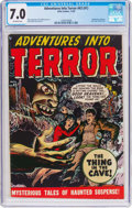 Golden Age (1938-1955):Horror, Adventures Into Terror #43 (#1) (Atlas, 1950) CGC FN/VF 7.0Off-white pages....