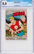 Golden Age (1938-1955):Science Fiction, Captain Atom #4 (Nationwide Publications, 1951) CGC VF 8.0Off-white to white pages....