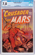 Golden Age (1938-1955):Science Fiction, Crusader from Mars #1 (Ziff-Davis, 1952) CGC FN/VF 7.0 Whitepages....