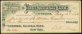 Obsoletes By State:Arizona, Tombstone, Arizona Territory- First National Bank of TombstoneCheck $3000 Feb. 13, 1884 . ...