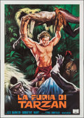 "Movie Posters:Adventure, Tarzan's Savage Fury (Capitol International, R-1960s). Italian 4 -Fogli (55"" X 77.75""). Adventure.. ..."