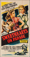"""Movie Posters:Musical, Sweethearts on Parade (Republic, 1953). Three Sheet (41"""" X 80"""").Musical.. ..."""