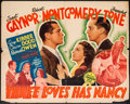"Movie Posters:Comedy, Three Loves Has Nancy (MGM, 1938). Half Sheet (22"" X 28""). Comedy.. ..."