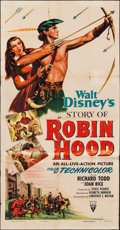 "Movie Posters:Adventure, The Story of Robin Hood (RKO, 1952). Three Sheet (41"" X 79.5"").Adventure.. ..."