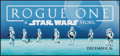 "Movie Posters:Science Fiction, Rogue One: A Star Wars Story (Walt Disney Studios, 2016). MarqueeDisplay Poster (13.75"" X 29.5"") DS Advance. Science Fictio..."