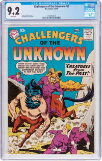 Challengers of the Unknown #13 (DC, 1960) CGC NM- 9.2 White pages