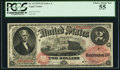 Large Size:Legal Tender Notes, Fr. 45 $2 1875 Legal Tender PCGS Choice About New 55.. ...