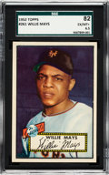 Baseball Cards:Singles (1950-1959), 1952 Topps Willie Mays #261 SGC 82 EX/NM+ 6.5....