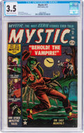 Golden Age (1938-1955):Horror, Mystic #17 (Atlas, 1953) CGC VG- 3.5 Cream to off-white pages....