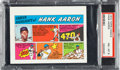Baseball Cards:Singles (1970-Now), 1973 Topps Test Comics Hank Aaron PSA NM-MT 8 - Pop Four, NoneHigher....