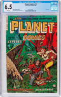 Golden Age (1938-1955):Science Fiction, Planet Comics #73 (Fiction House, 1953) CGC FN+ 6.5 White pages....