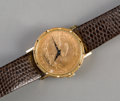 Jewelry:Watches (Timepieces), A Bueche Girod Wrist Watch Mounted with 1894 $10 Gold Liberty Head Coin. Marks: Bueche Girod. 8-3/4 inches long (22.2 cm...
