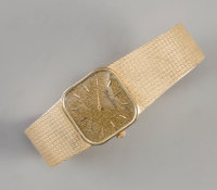 A Lucien Piccard 14K Wrist Watch Marks to case: 14K GOLD Marks to face: Lucien Piccard