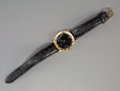 Jewelry:Watches (Timepieces), An 18K Gold Bulgari Quartz Men's Wrist Watch. Marks: (various). 8-3/4 inches long (22.2 cm) (laid flat). Property from the...