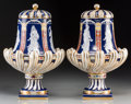 Ceramics & Porcelain, A Pair of Neoclassical-Style Porcelain Covered Vases. Marks: (spurious marks for Minton). 16-1/8 inches high (41.0 cm). ... (Total: 2 Items)