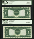 Error Notes:Large Size Inverts, Fr. 230 $1 1899 Silver Certificates PCGS Gem New 66PPQ, Gem New 65PPQ (2), Very Choice New 64PPQ Cut Sheet of 4.. ... (Total: 4 notes)